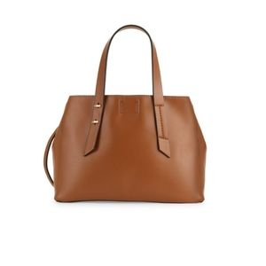 Lexi and Abbie - walnut brown shoulder satchel